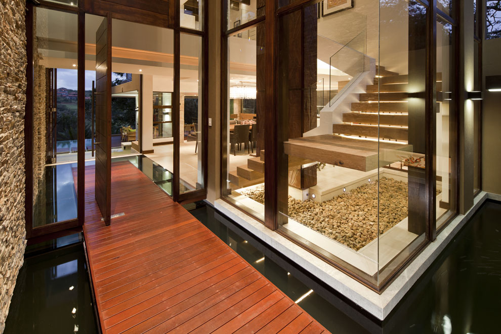 Stairs, Glass Walls, Home in Zimbali, South Africa