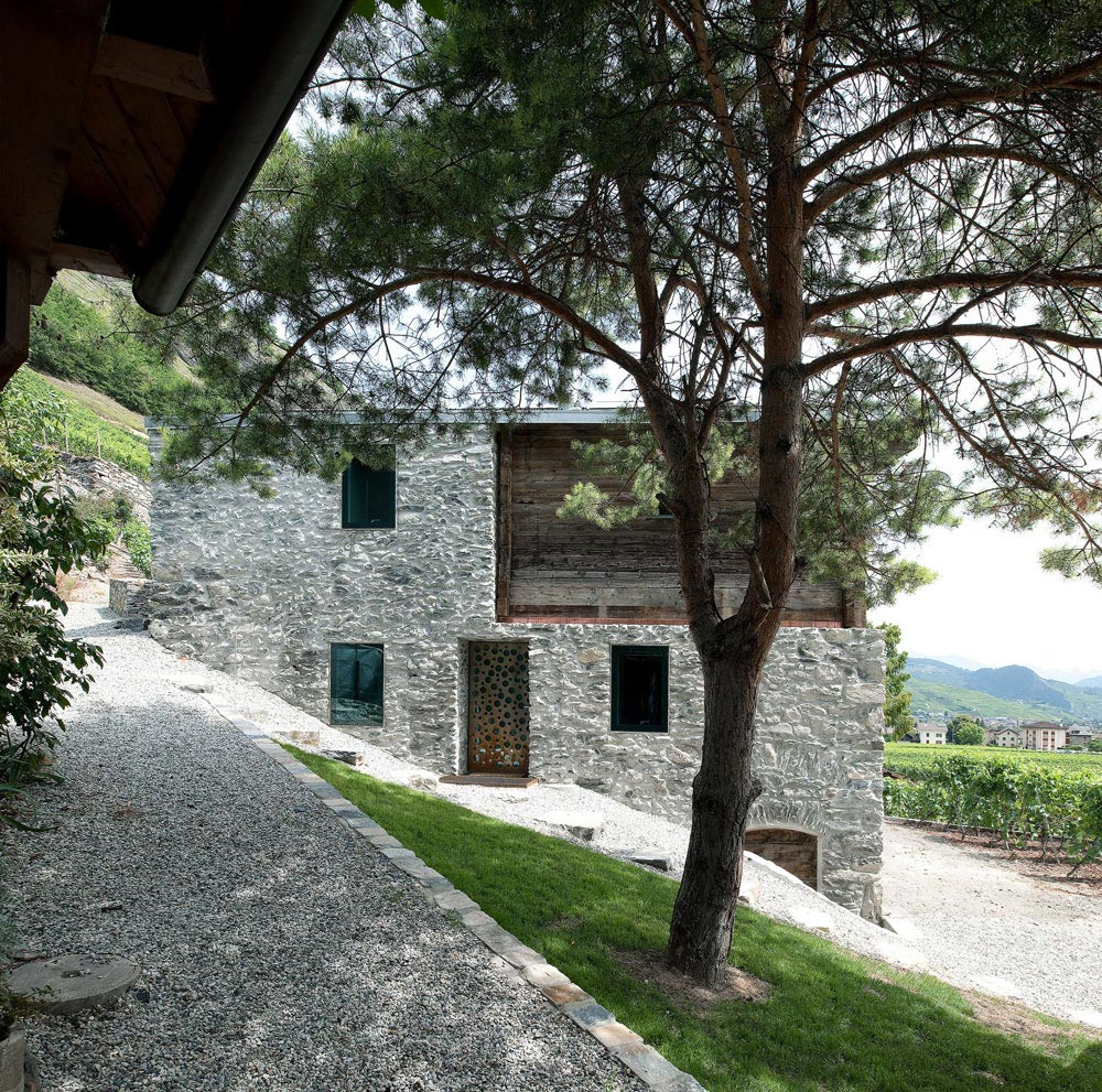 Stone Walls, Home Remodel in Vétroz, Switzerland