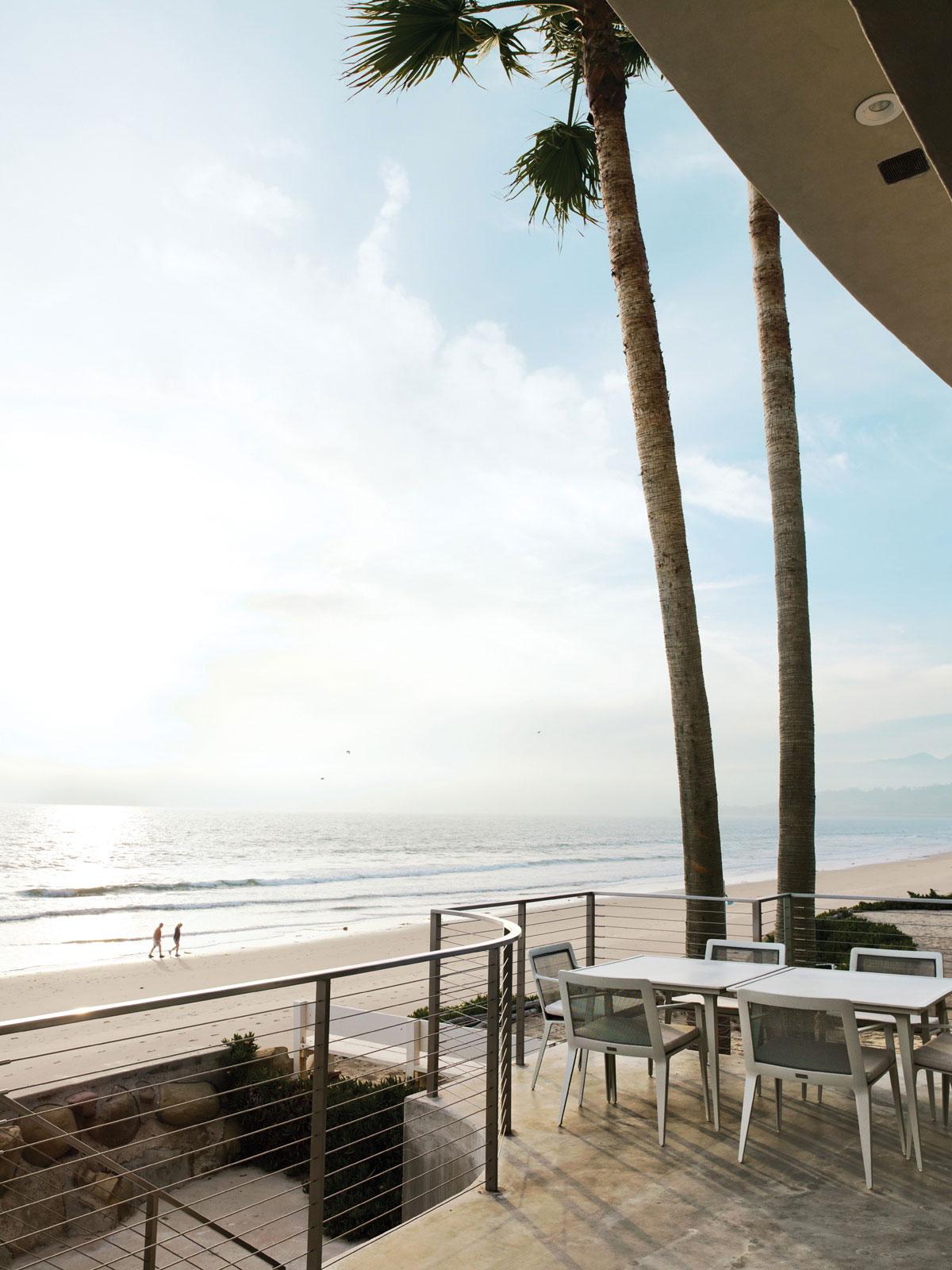Terrace, Dining Table, Beach, Sea Views, Eco-Friendly Beach House in California