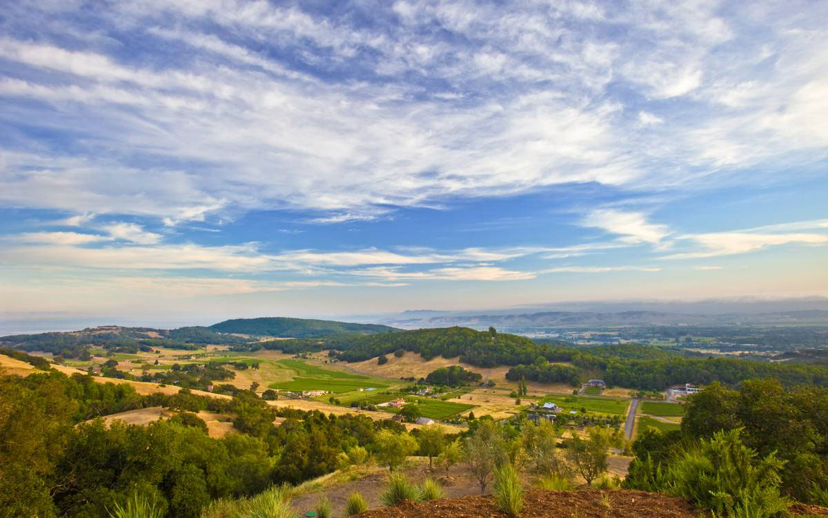 Valley Views, Home in the Sonoma Valley, California