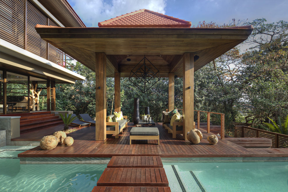 Veranda, Pool, Bridge, Wood Deck, Home in Zimbali, South Africa