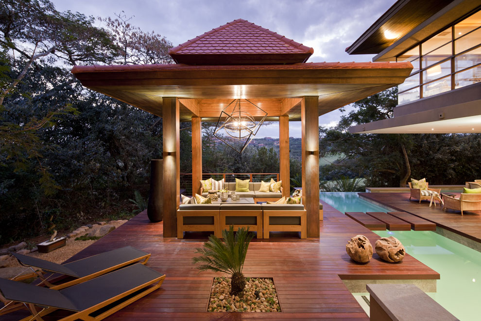 Veranda, Wooden Deck, Terrace, Pool, Home in Zimbali, South Africa