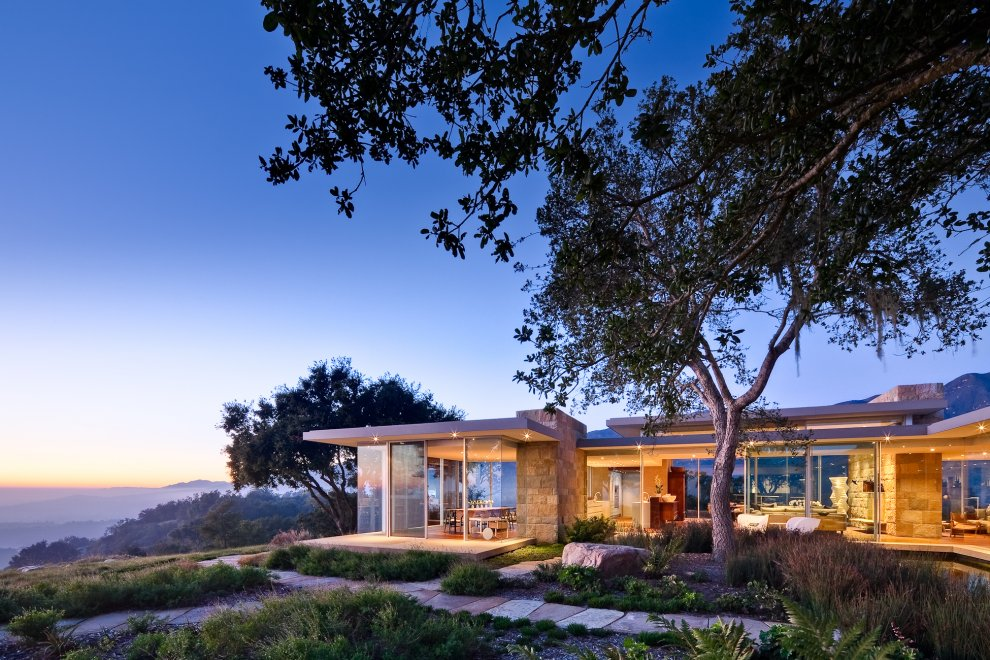 Views, Glass Walls, Hilltop Home in Carpinteria, California