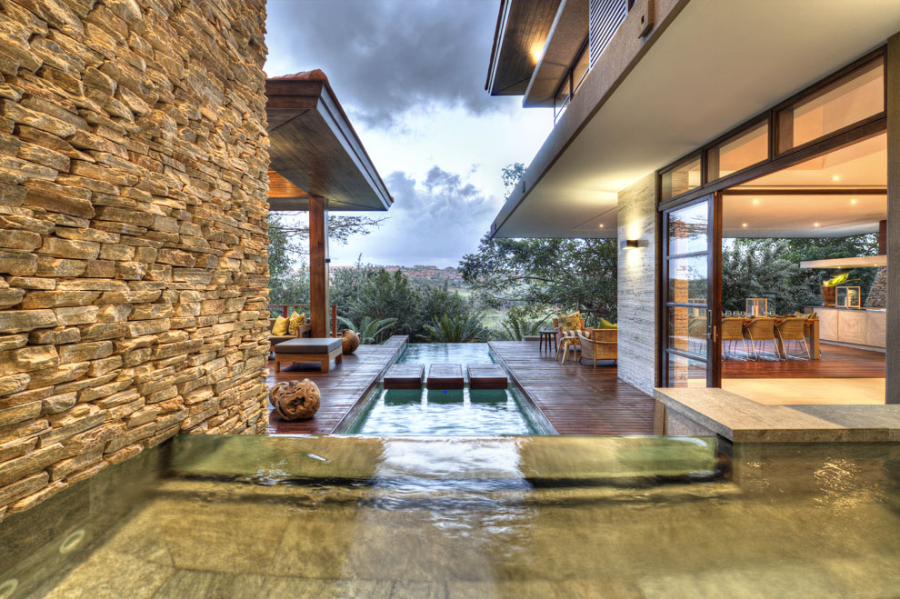 Water Feature, Pool, Terrace, Home in Zimbali, South Africa