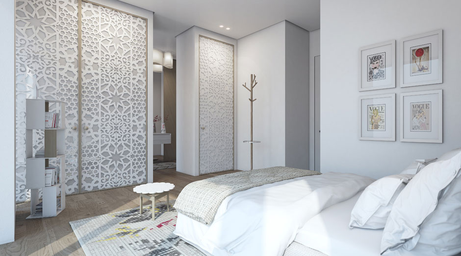 White Bedroom, Apartment in the W Boutique Tower, Tel Aviv