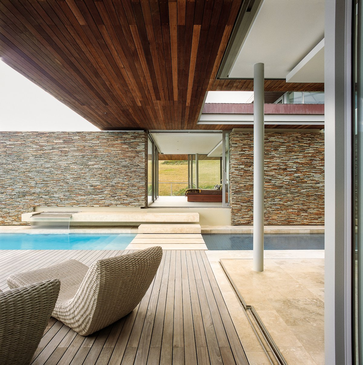 Wood Deck, Terrace, Cliff Top Home in Knyzna, South Africa