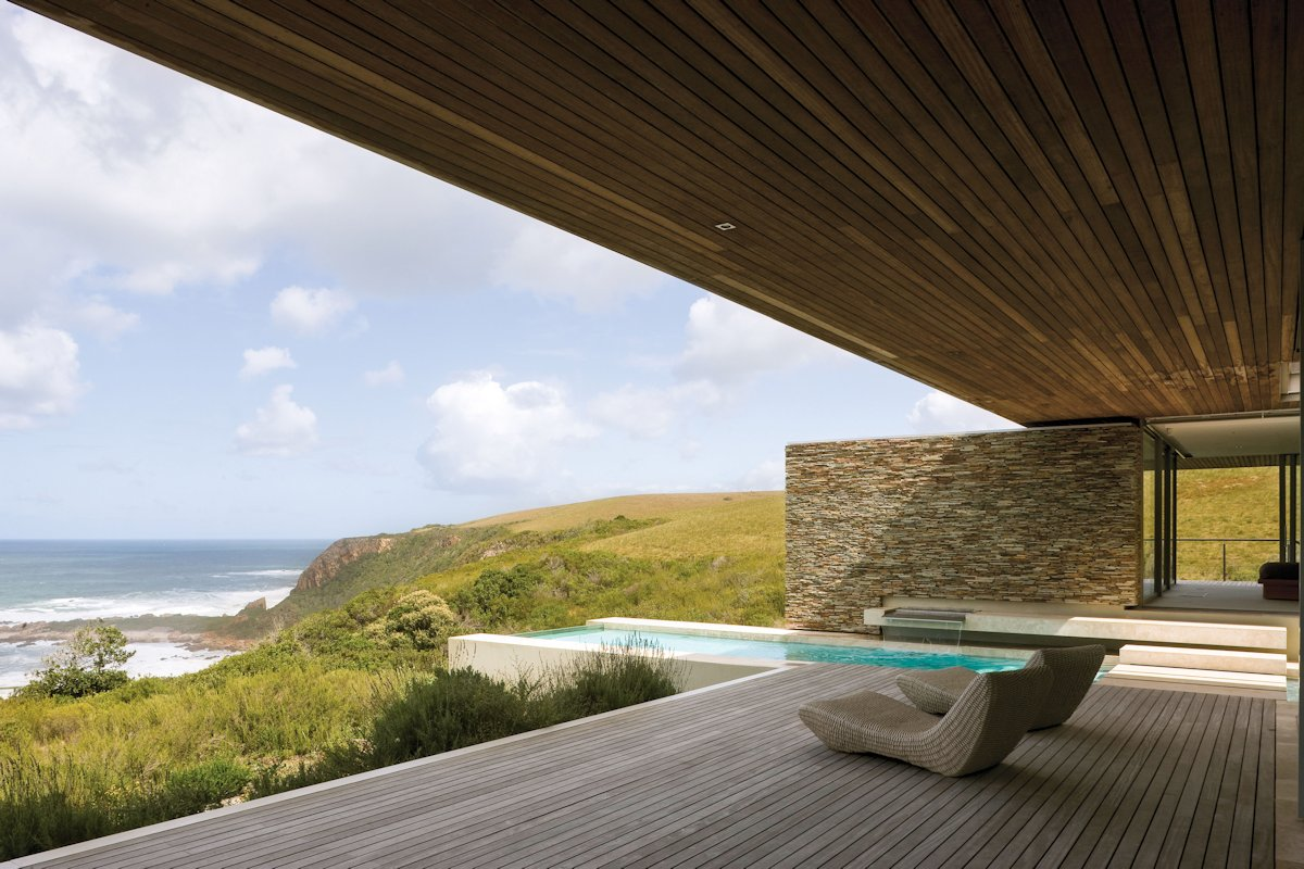 Wood Terrace Ceiling Cliff Top Home In Knyzna South