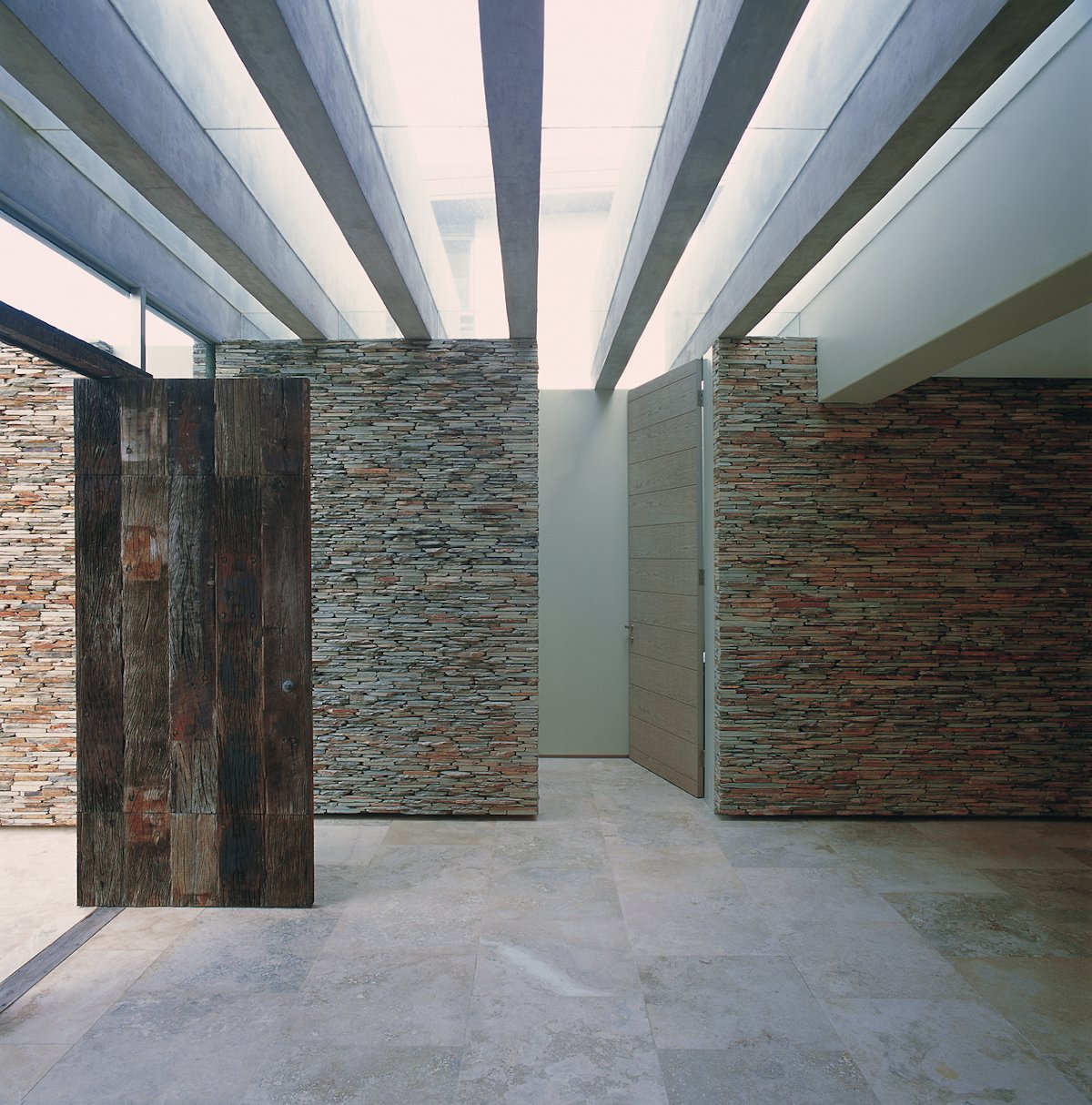 Wooden Front Door, Stone Walls, Cliff Top Home in Knyzna, South Africa