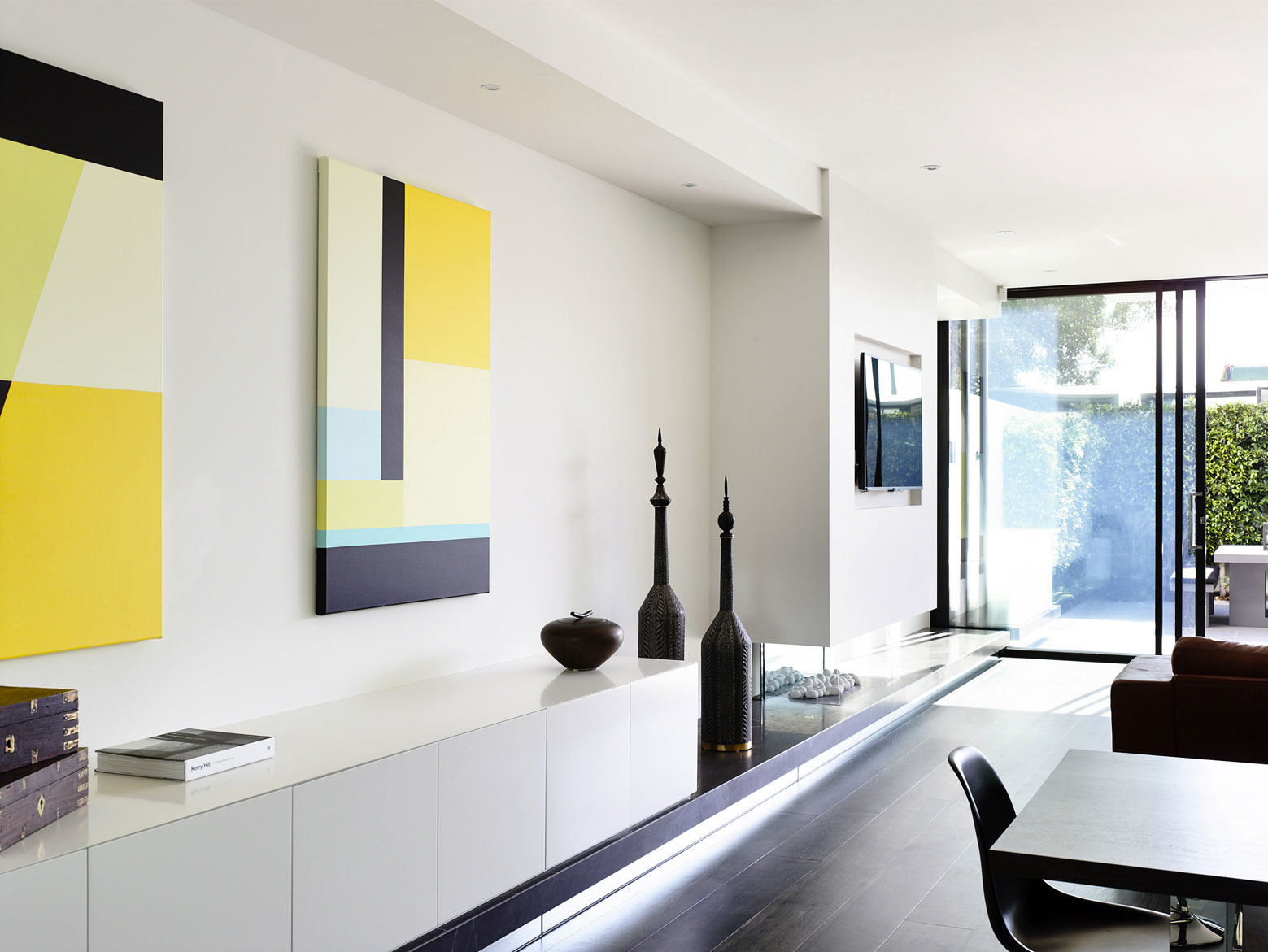 Art, Contemporary Fireplace, Townhouses in Brighton, Australia