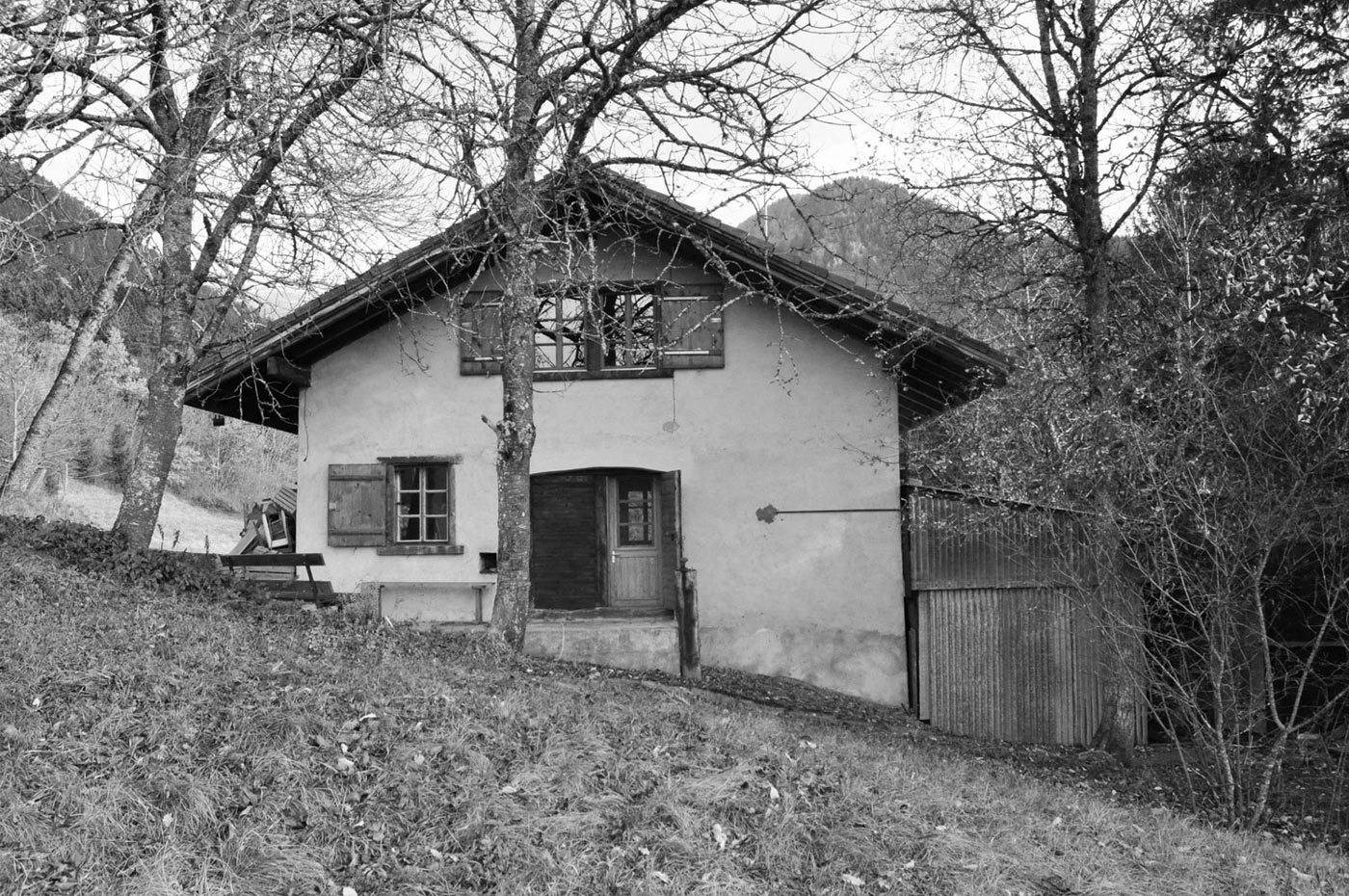 Before, Holiday Home Renovation in Ayent, Switzerland
