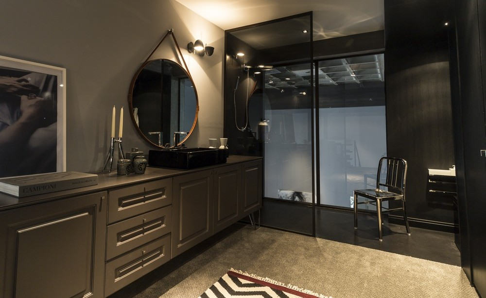 Dark Bathroom, Apartment in Praia Brava