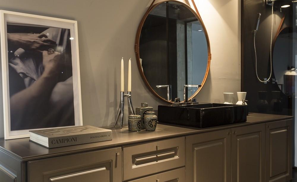 Dark Sink, Bathroom, Apartment in Praia Brava