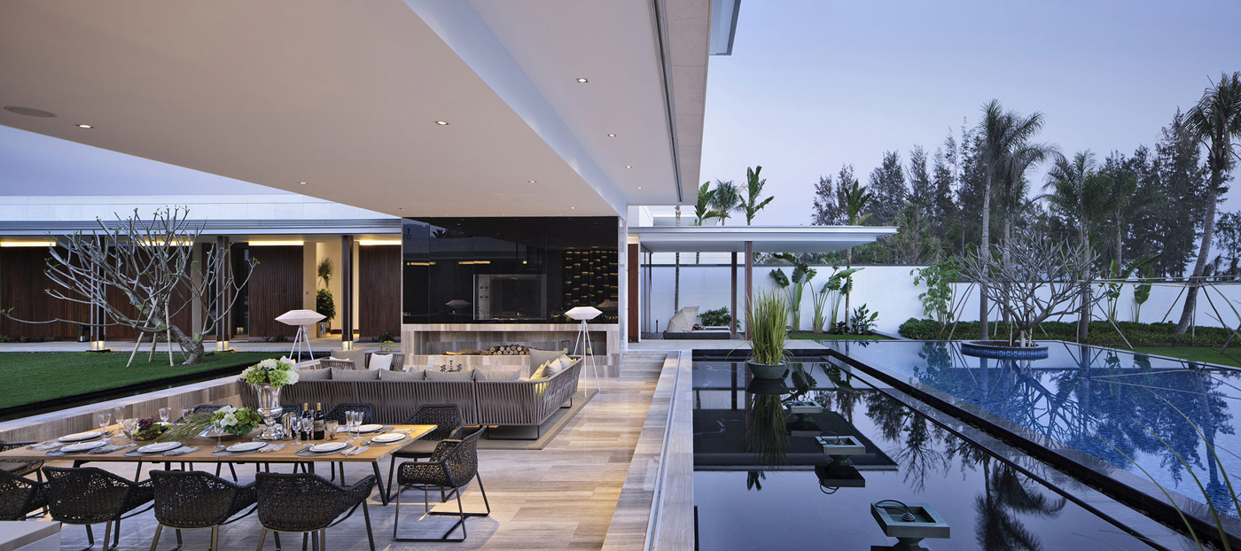 Dining & Living Space, Beachside Villas in Lingshui, Hainan, China