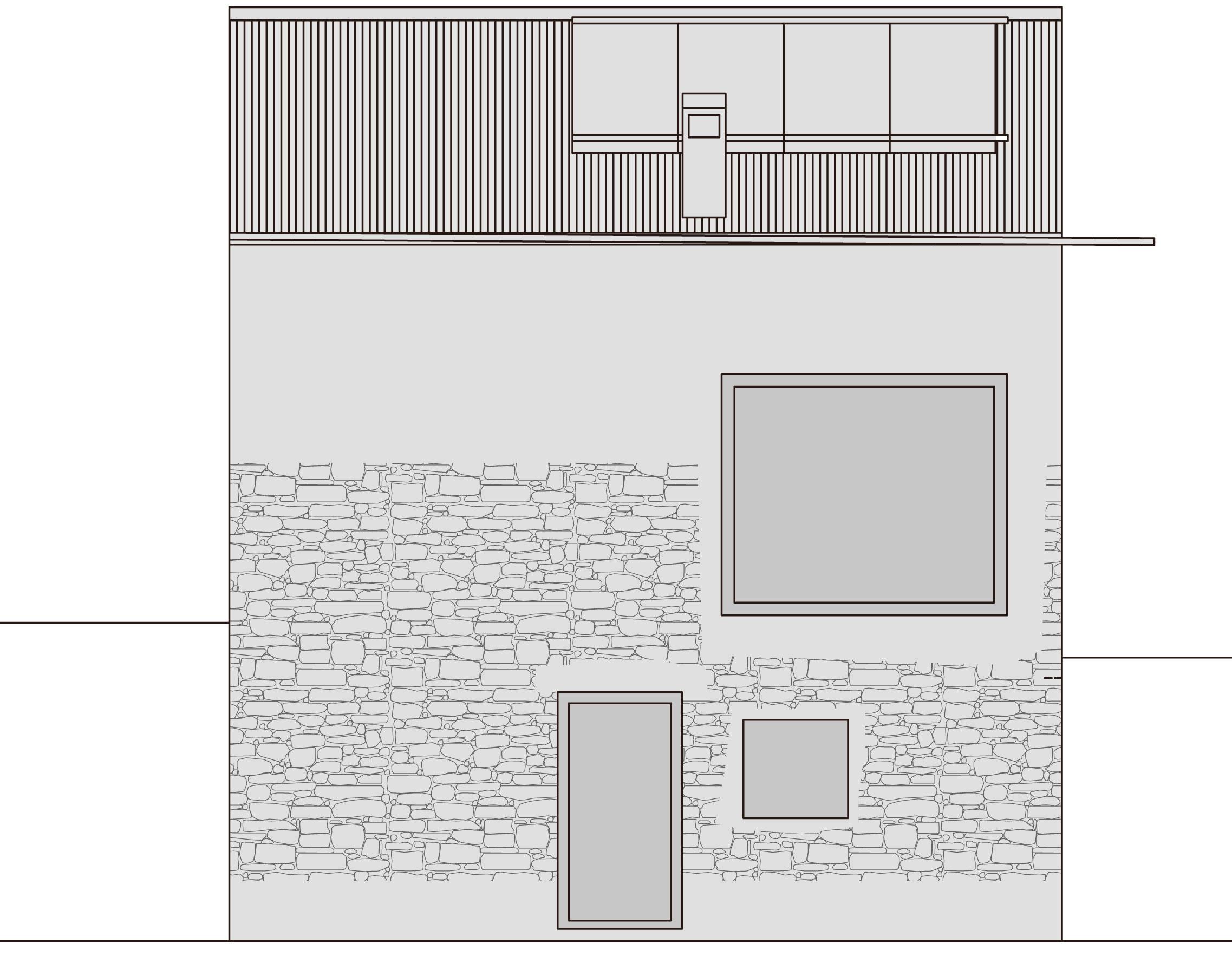 Elevation, Holiday Home Renovation in Ayent, Switzerland