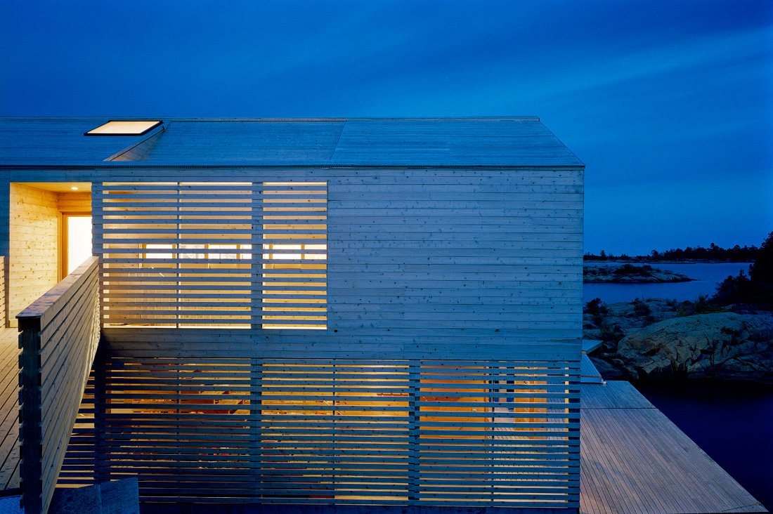 Entrance, Lighting, Floating House on Lake Huron