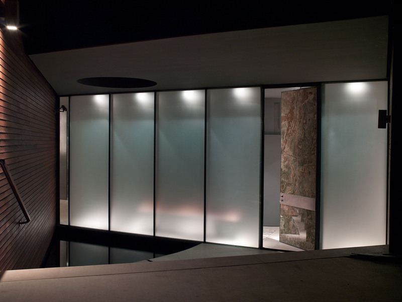 Evening, Lighting, Entrance, Eco-Friendly House in Texas