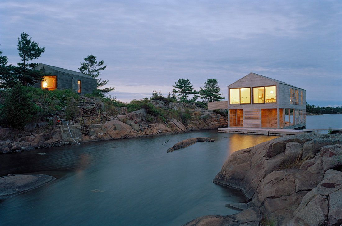Evening, Lighting, Floating House on Lake Huron