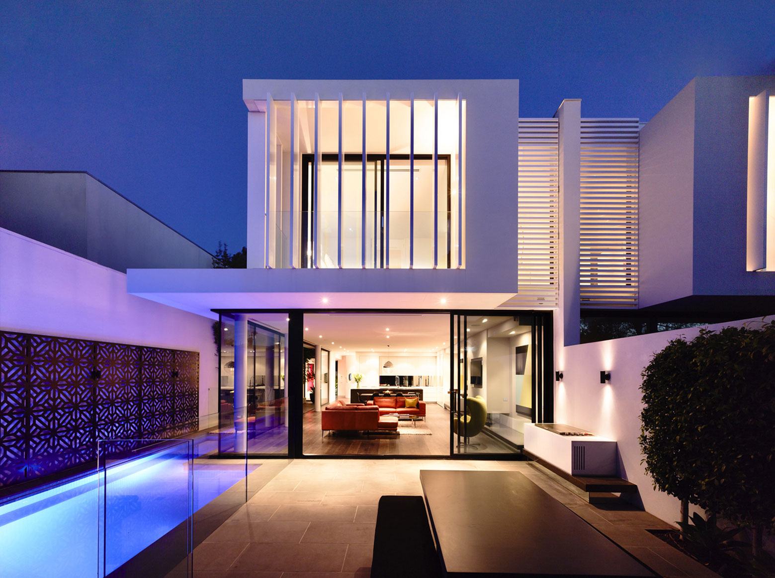 Evening, Lighting, Terrace, Pool, Townhouses in Brighton, Australia