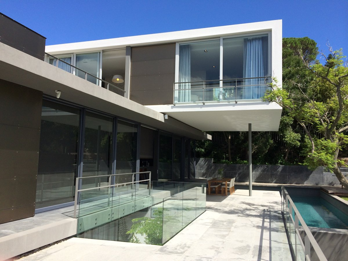 Glass Balustrading, Terrace, Pool, House in Tamboerskloof, Cape Town