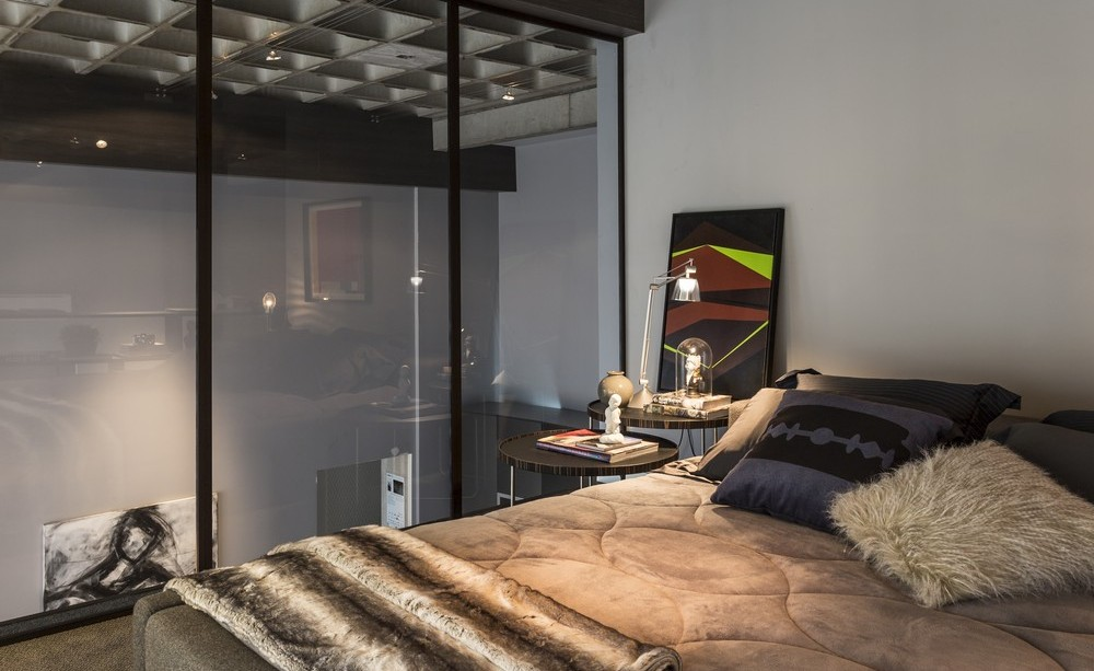 Glass Wall, Bedroom, Apartment in Praia Brava