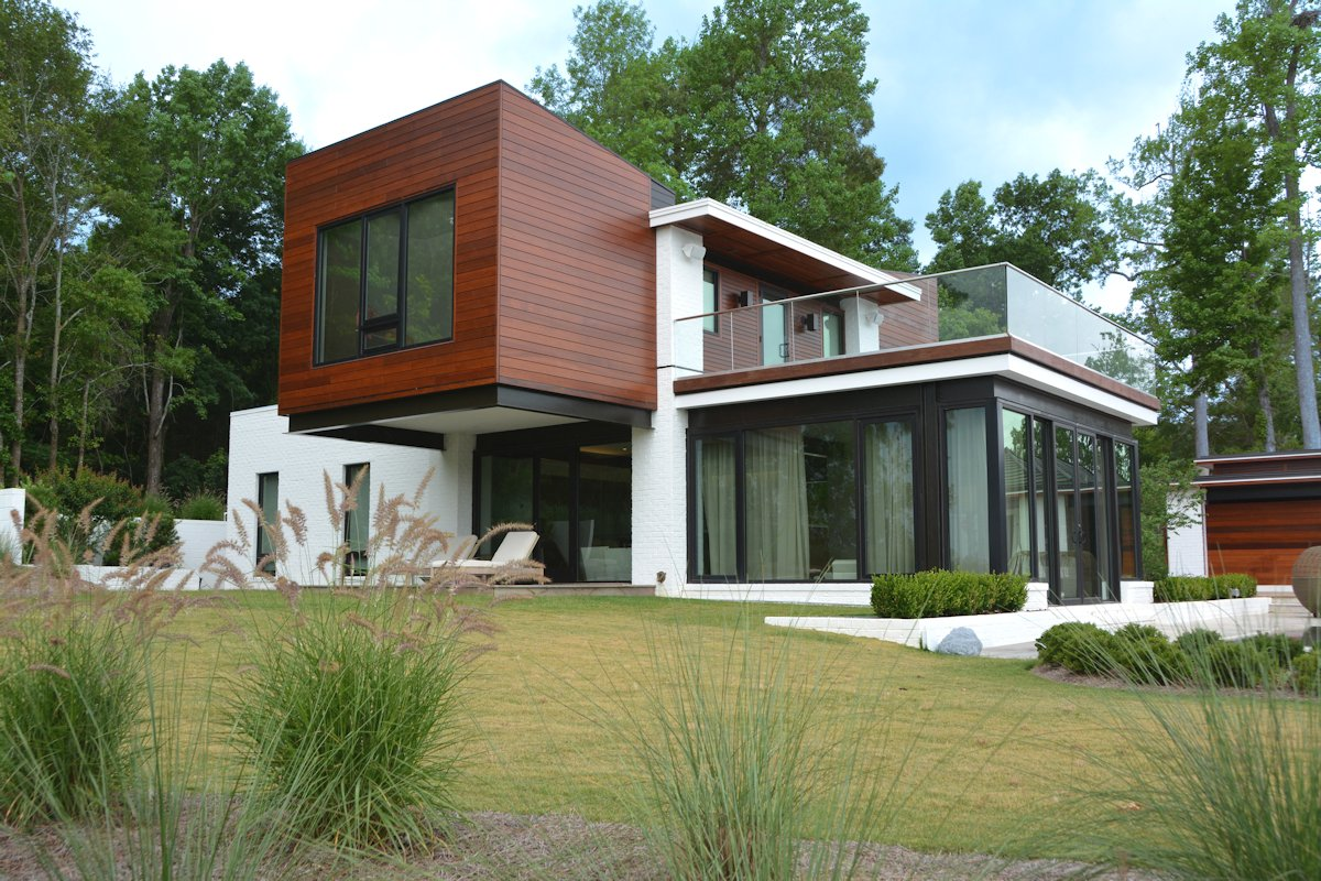 Glass Walls, Glass Balustrading, Guest House in Wilmington, North Carolina
