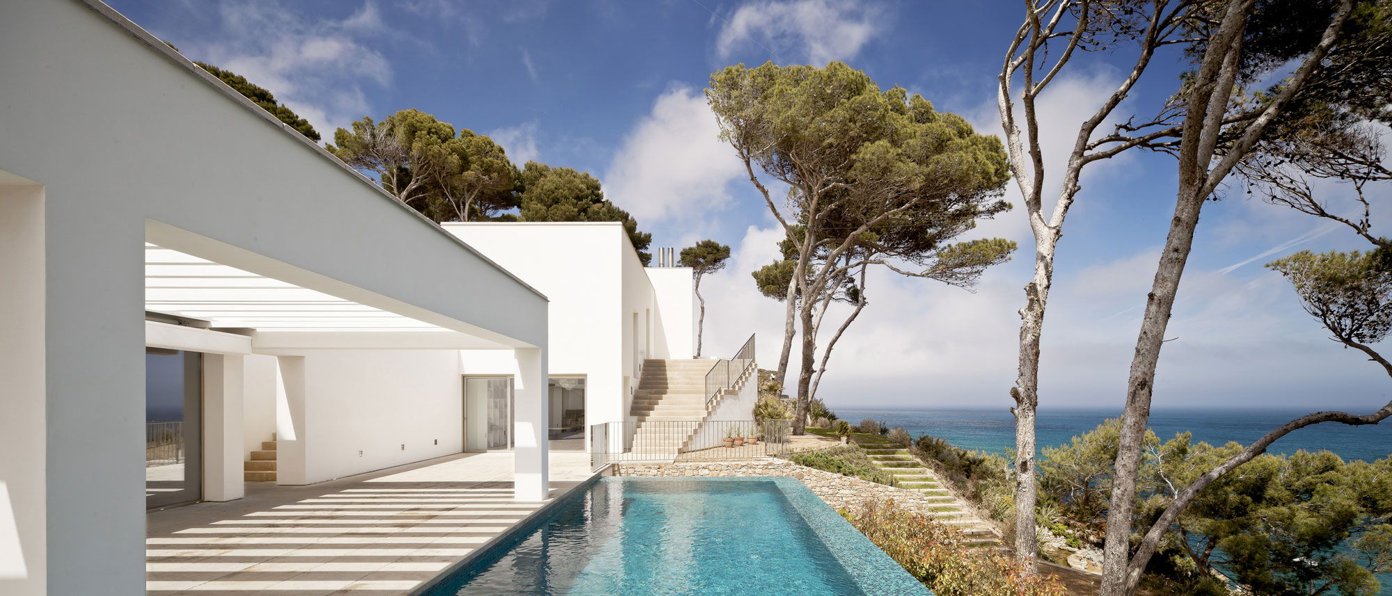 Infinity Pool, Terrace, Waterfront House in Costa Brava, Spain
