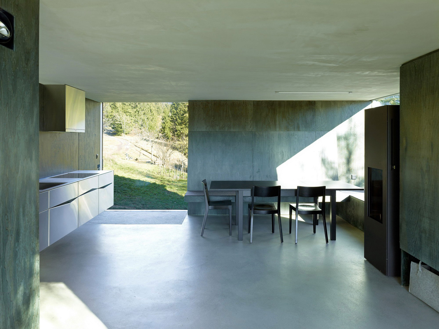 Kitchen, Dining, Open Plan Living, Holiday Home Renovation in Ayent, Switzerland