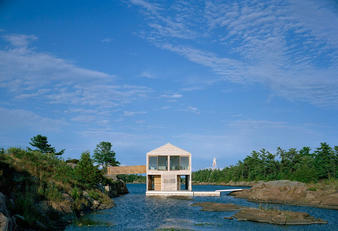 Large Windows, Floating House on Lake Huron