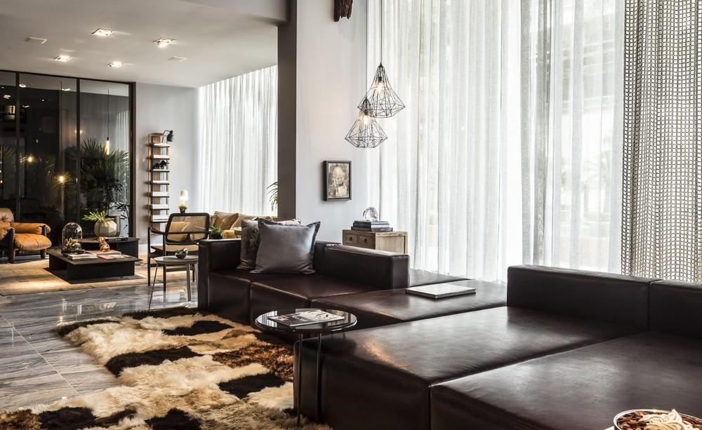 Living Room, Sofas, Rug, Apartment in Praia Brava