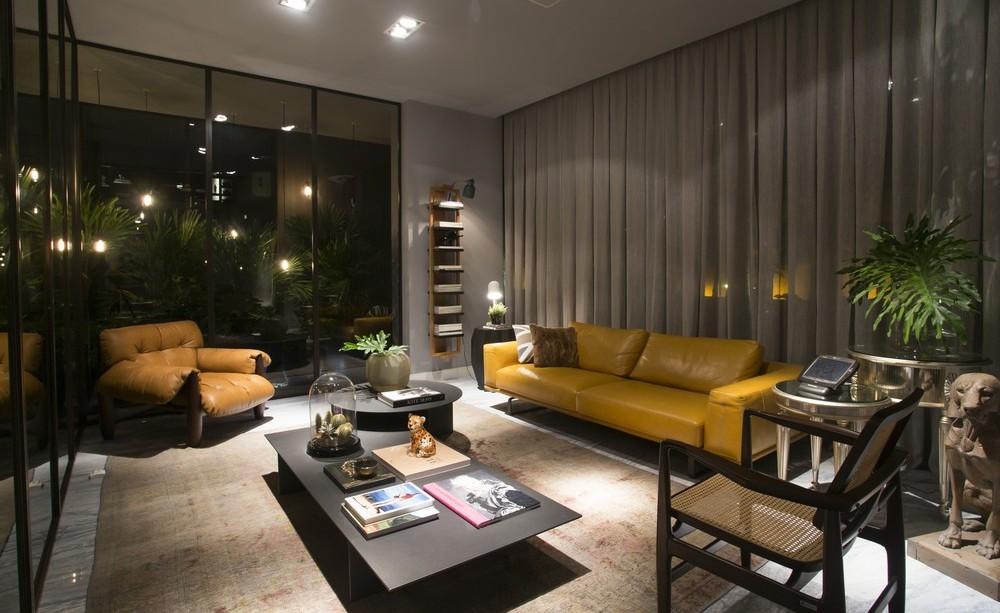 Living Space, Lighting, Sofas, Apartment in Praia Brava