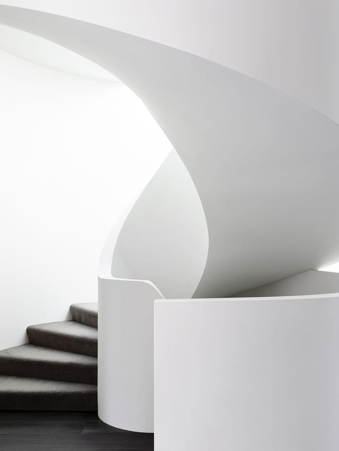 Modern Spiral Stairs, Townhouses in Brighton, Australia