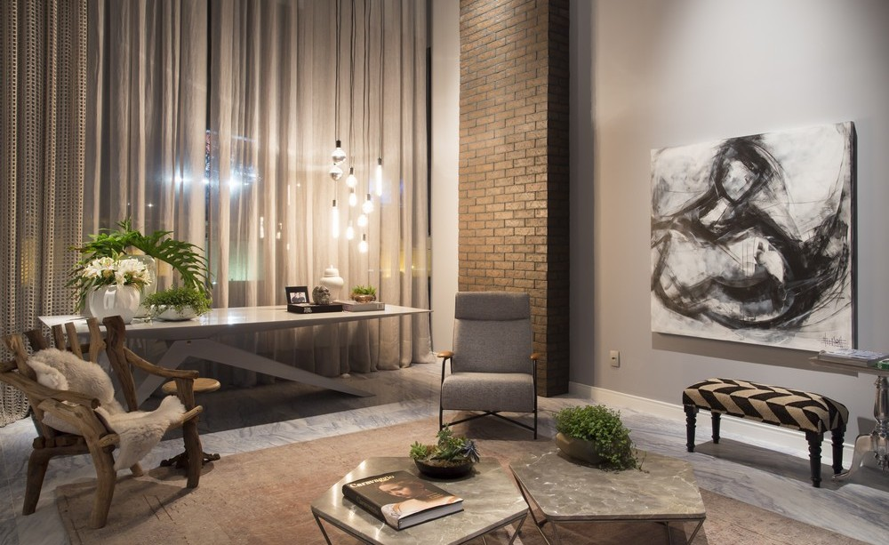 Occasional Table, Chair, Art, Apartment in Praia Brava