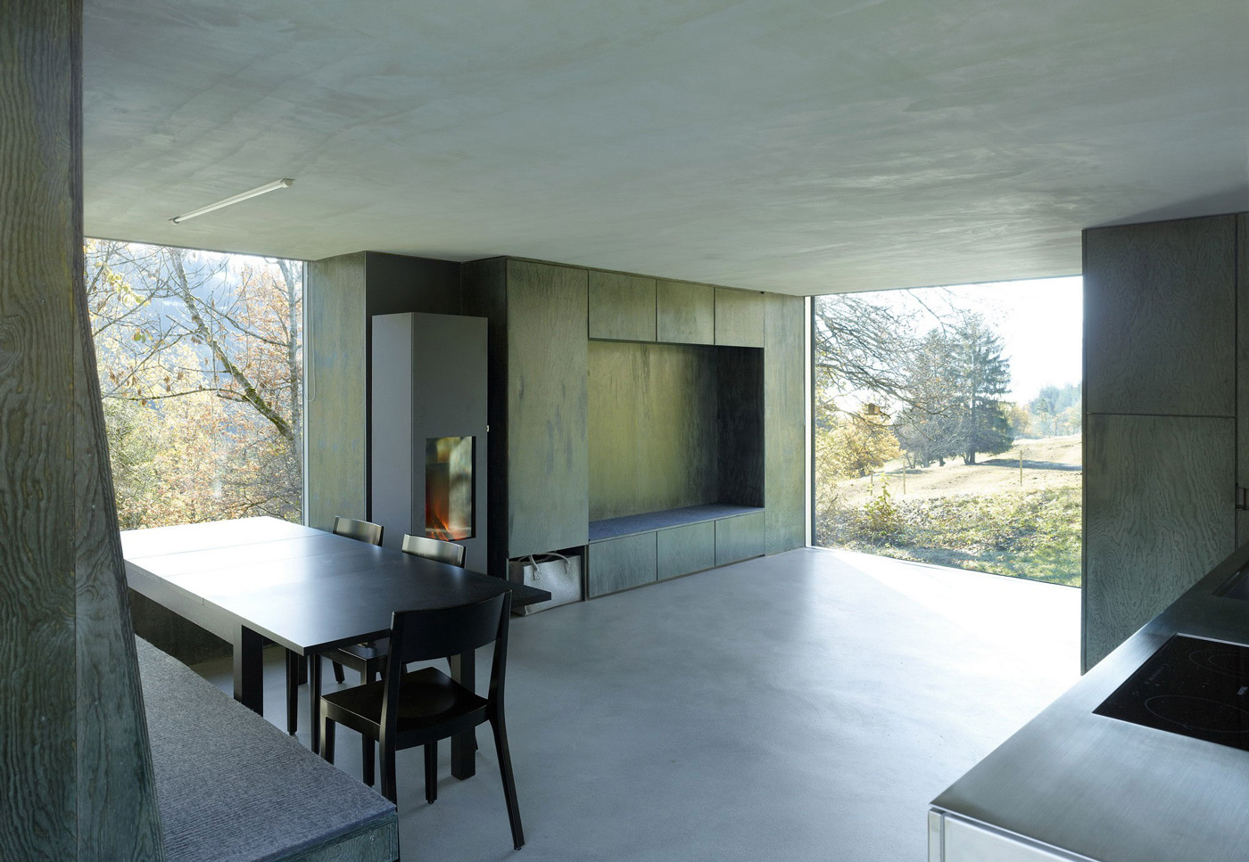 Open Plan Living, Large Windows, Holiday Home Renovation in Ayent, Switzerland