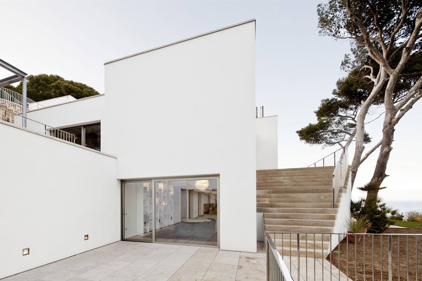Patio Doors, Terrace, Stairs, Waterfront House in Costa Brava, Spain