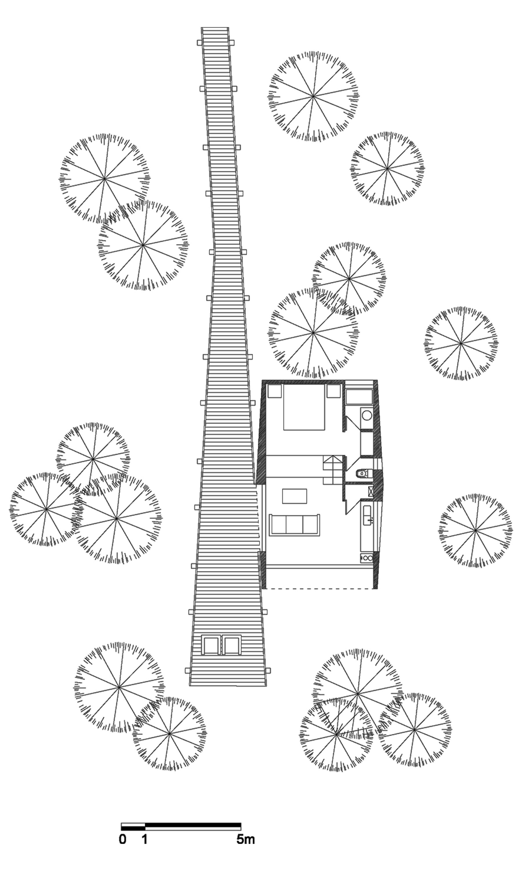 Floor Plan, Tree House in Curacaví, Chile
