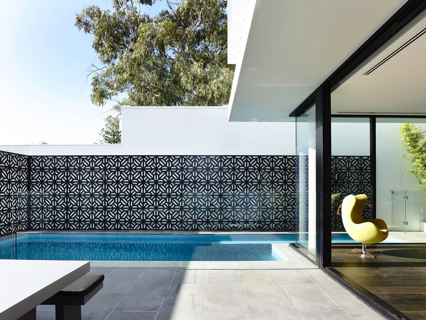 Pool, Terrace, Glass Sliding Doors, Townhouses in Brighton, Australia