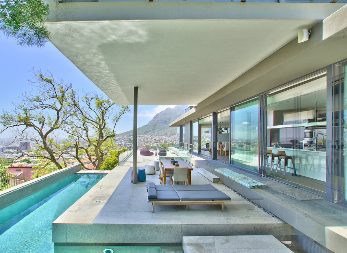Pool, Views, Terrace, Outdoor Furniture, House in Tamboerskloof, Cape Town