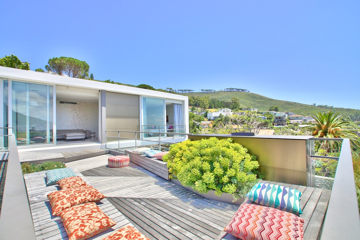 Roof Terrace, Glass Sliding Doors, House in Tamboerskloof, Cape Town