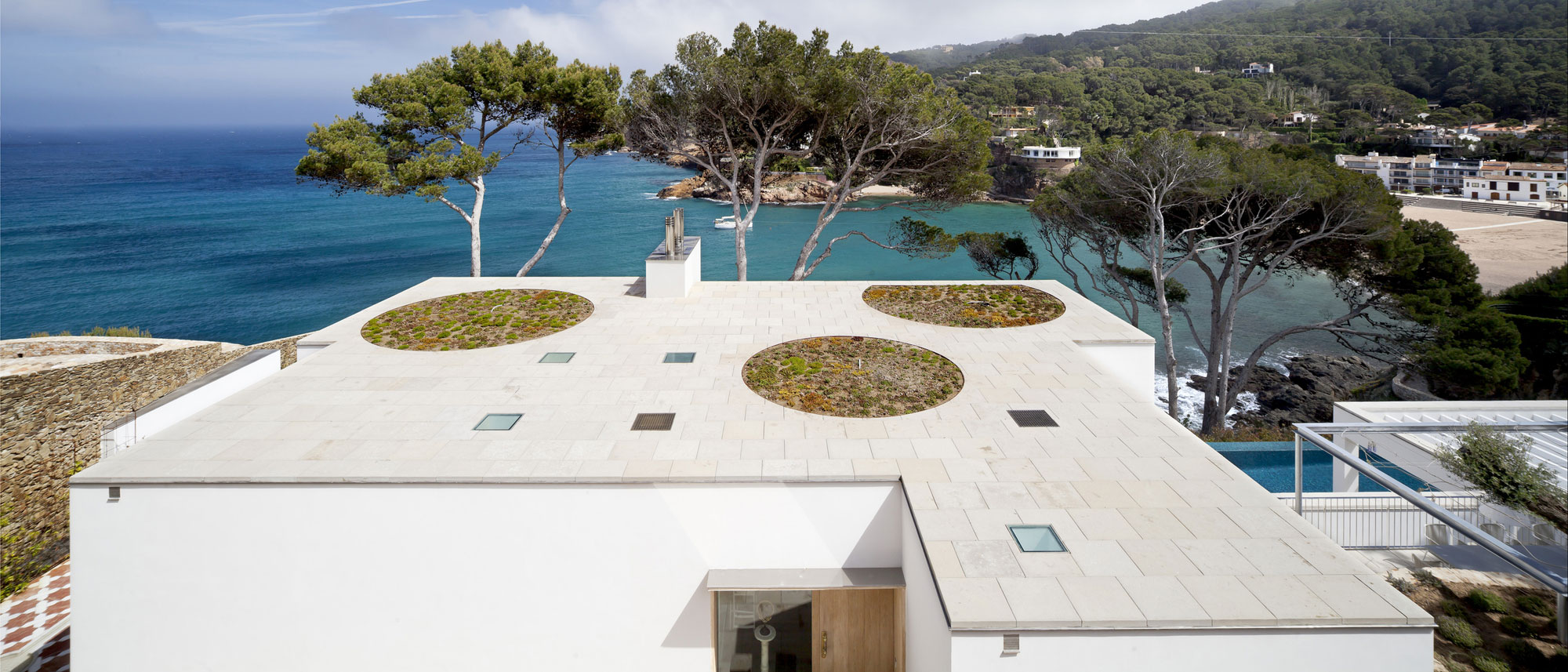 Roof, Waterfront House in Costa Brava, Spain