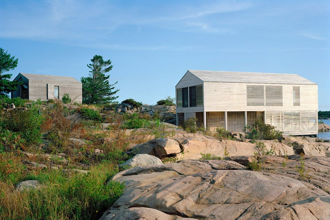 Side Facade, Floating House on Lake Huron
