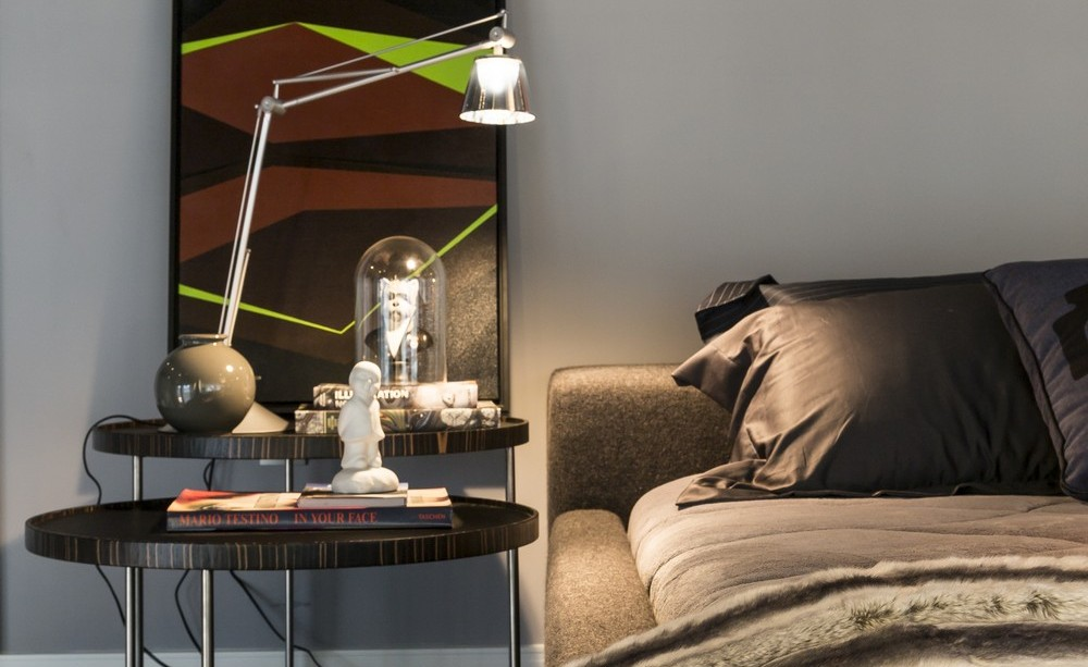 Side Table, Bed, Apartment in Praia Brava