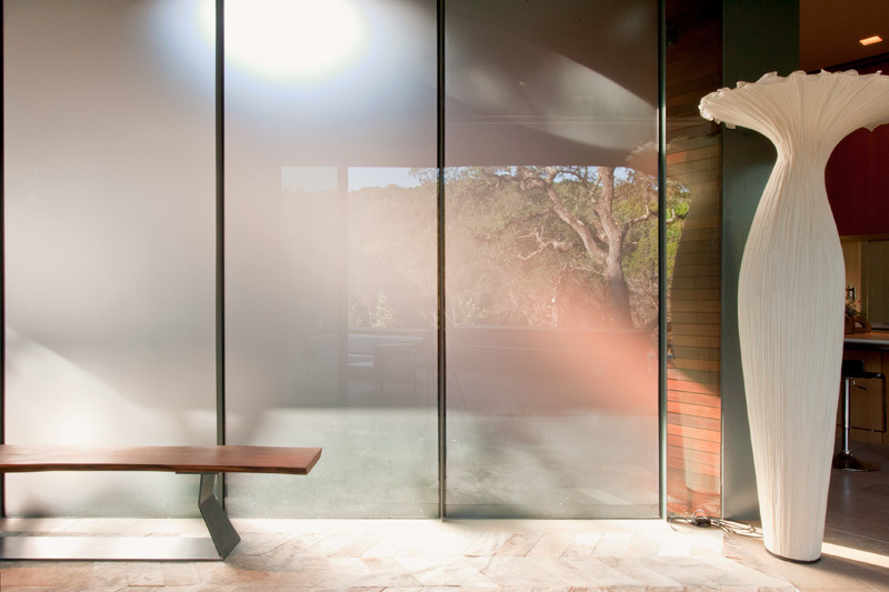 Smoked Glass Wall, Eco-Friendly House in Texas