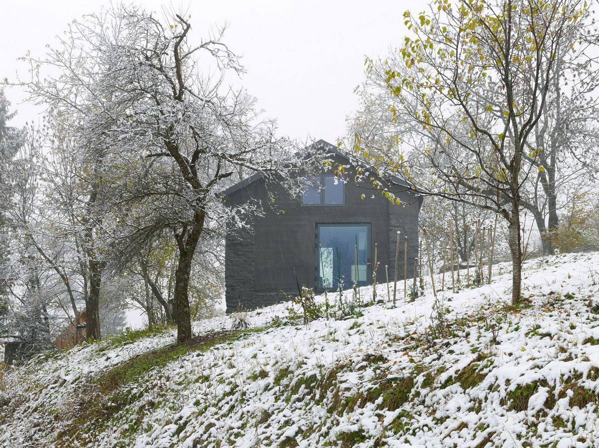 Snow, Holiday Home Renovation in Ayent, Switzerland