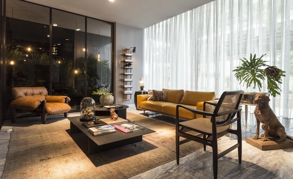 Sofas, Coffee Table, Marble Floor Tiles, Apartment in Praia Brava