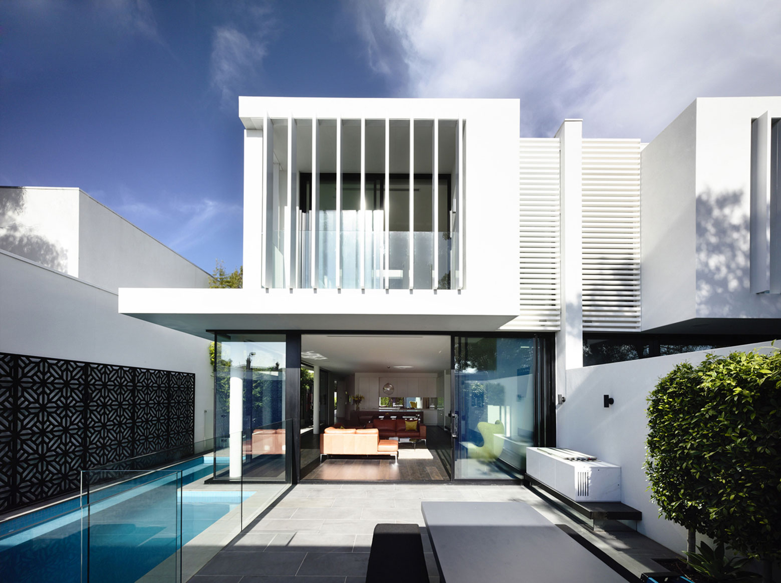 Terrace, Glass Balustrading, Pool, Townhouses in Brighton, Australia