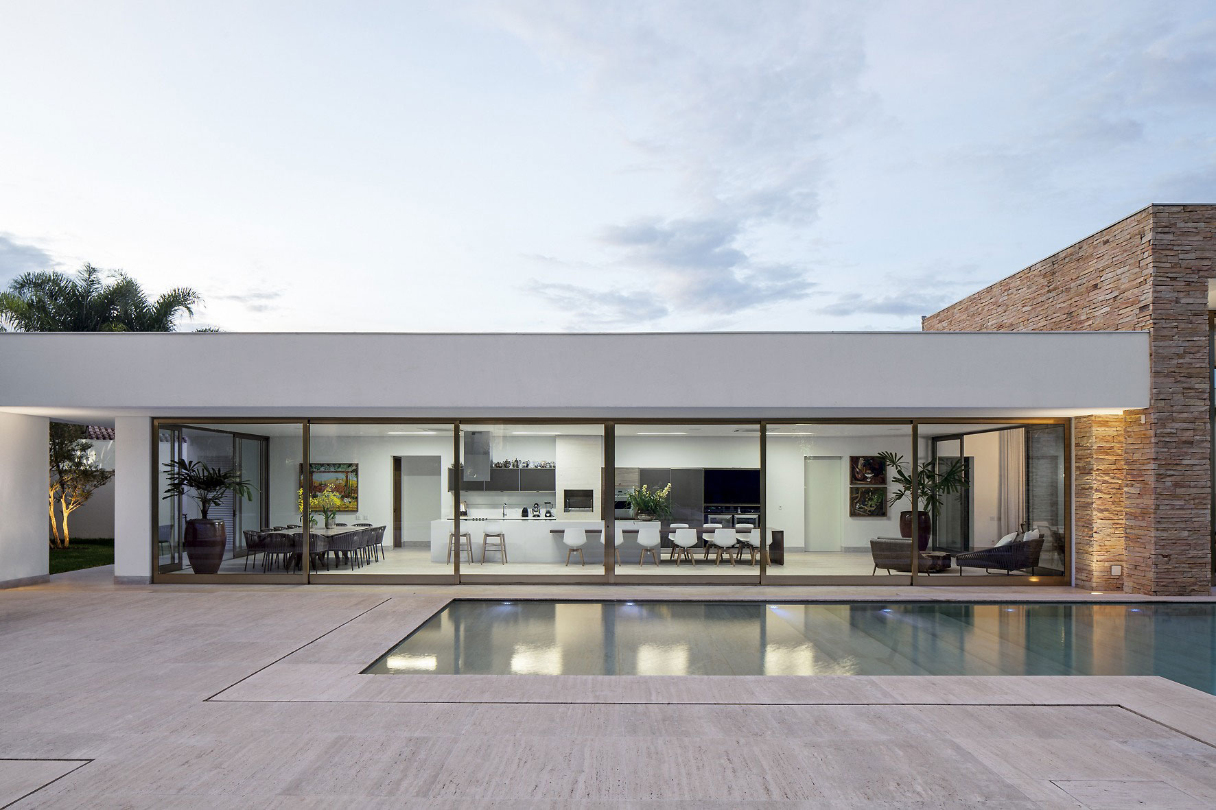 Terrace, Pool, Glass Sliding Doors, Home in Uberlandia, Brazil