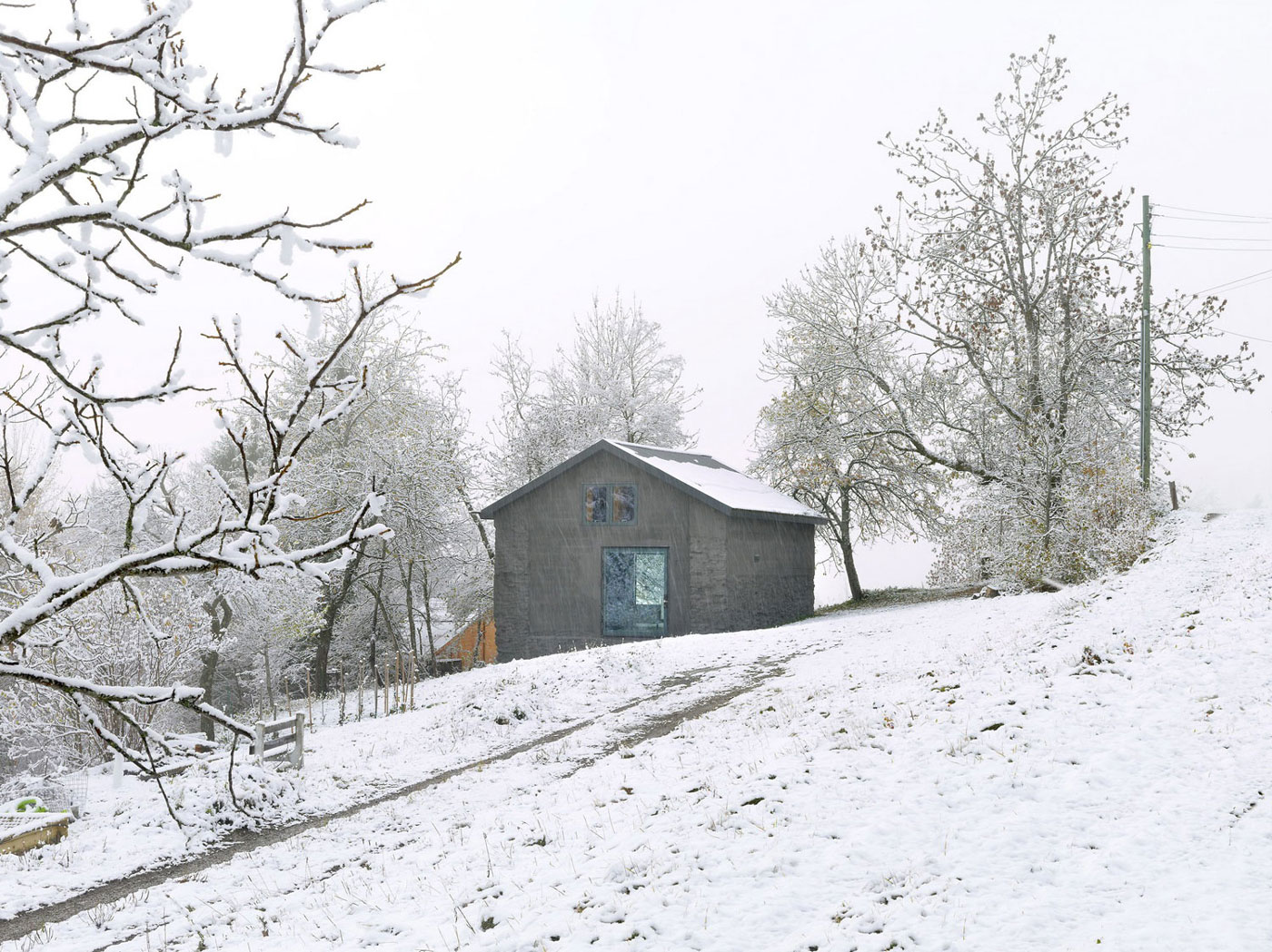 Winter Snow, Holiday Home Renovation in Ayent, Switzerland