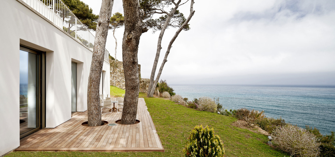 Wooden Deck, Garden, Sea Views, Waterfront House in Costa Brava, Spain