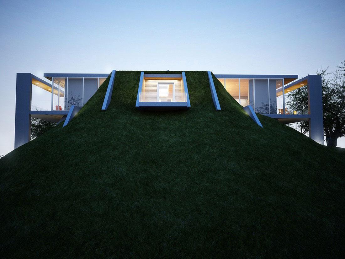 Balcony, Earth House Project