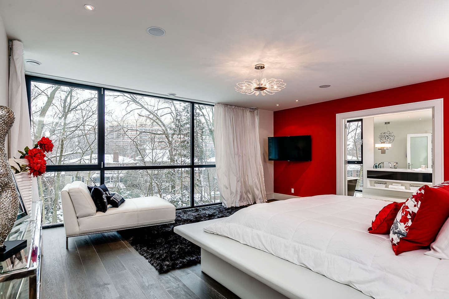 Bedroom, Contemporary House in Toronto, Canada